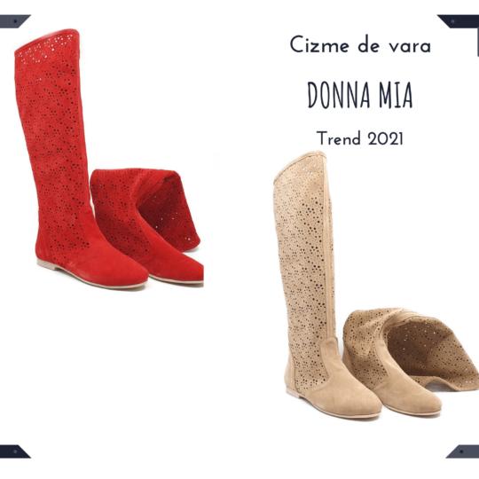 Cizme de vară perforate Donna Mia - Colectie nouă